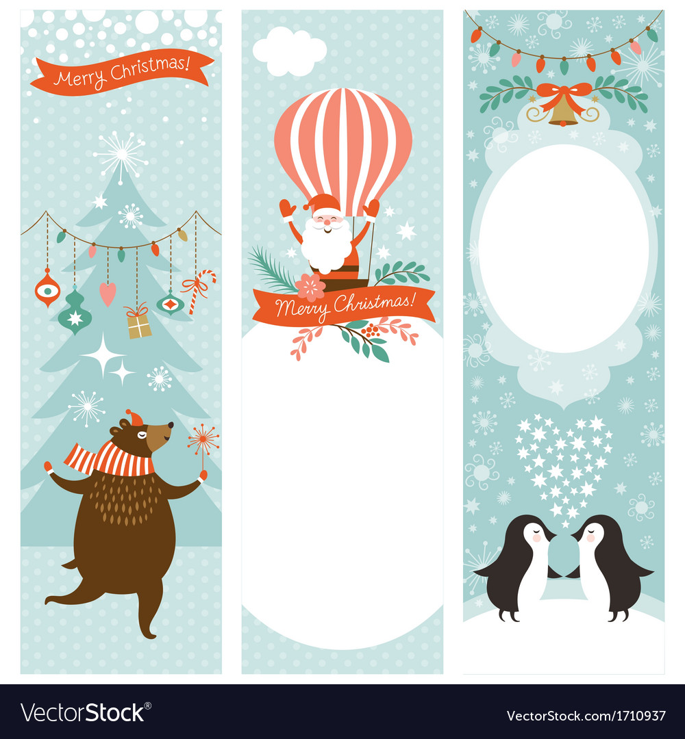 Christmas vertical banners vector | Price: 1 Credit (USD $1)