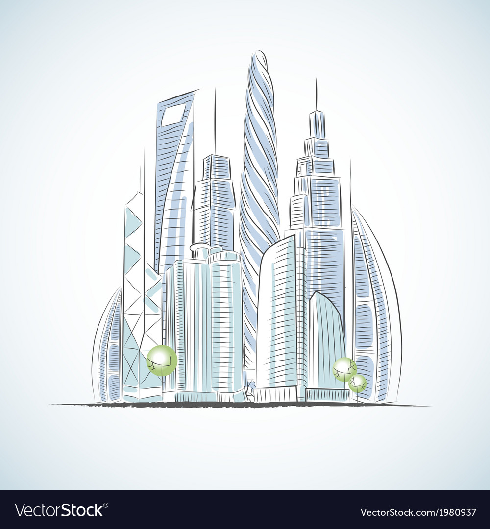 Eco green buildings icons vector | Price: 1 Credit (USD $1)