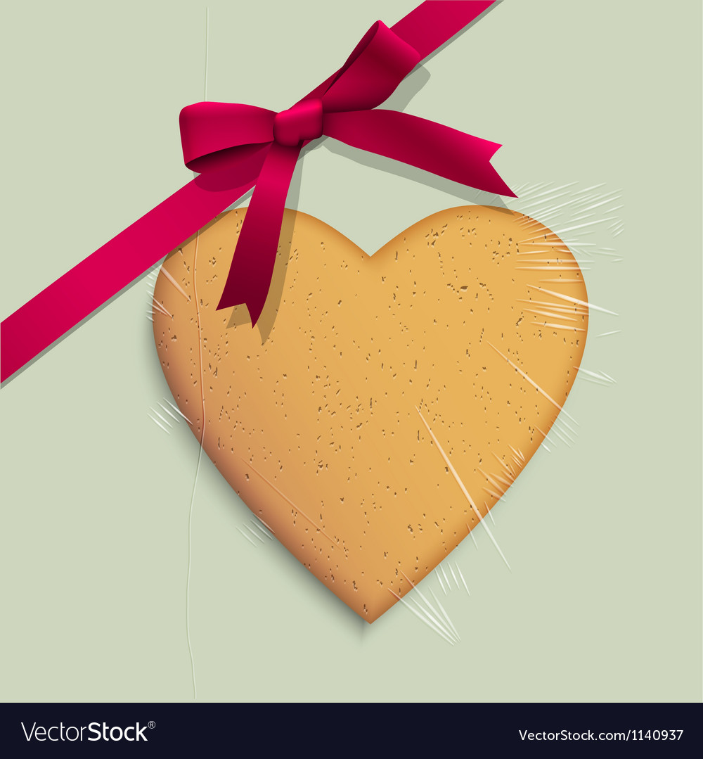Gift box with cookie of heart shaped vector | Price: 1 Credit (USD $1)