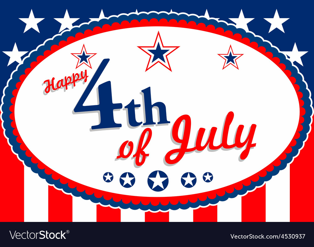 July 4 vector | Price: 1 Credit (USD $1)