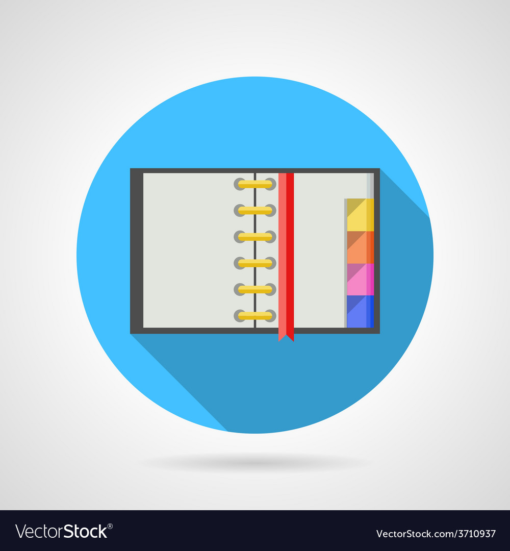 Opened ring notebook flat icon vector | Price: 1 Credit (USD $1)