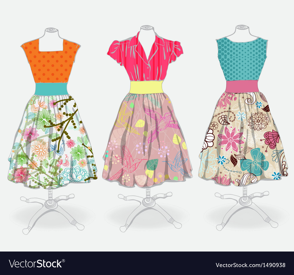 Beautiful dress vector | Price: 1 Credit (USD $1)
