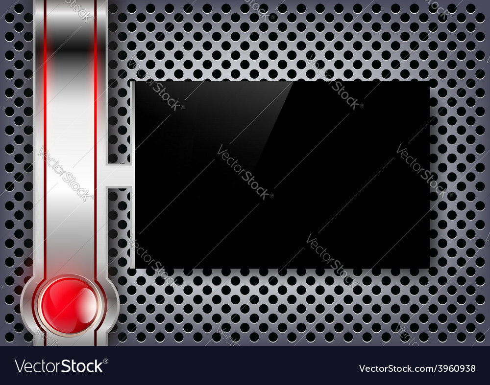 Black screen on a metal background vector | Price: 1 Credit (USD $1)