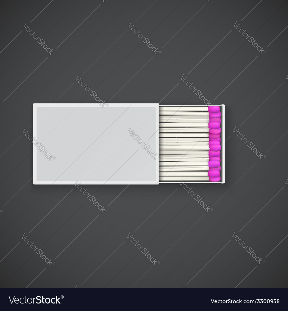 Box of matches with pink head vector | Price: 1 Credit (USD $1)