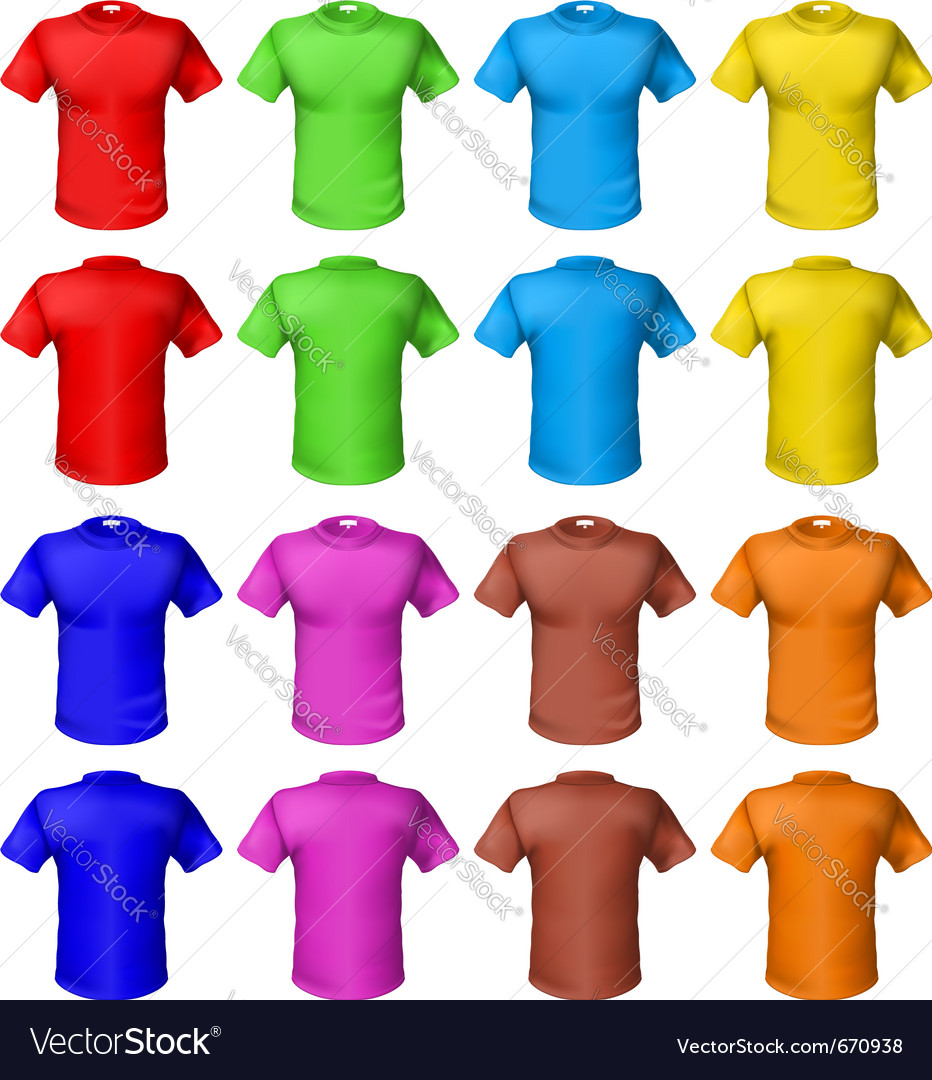 Bright colored shirts vector | Price: 1 Credit (USD $1)