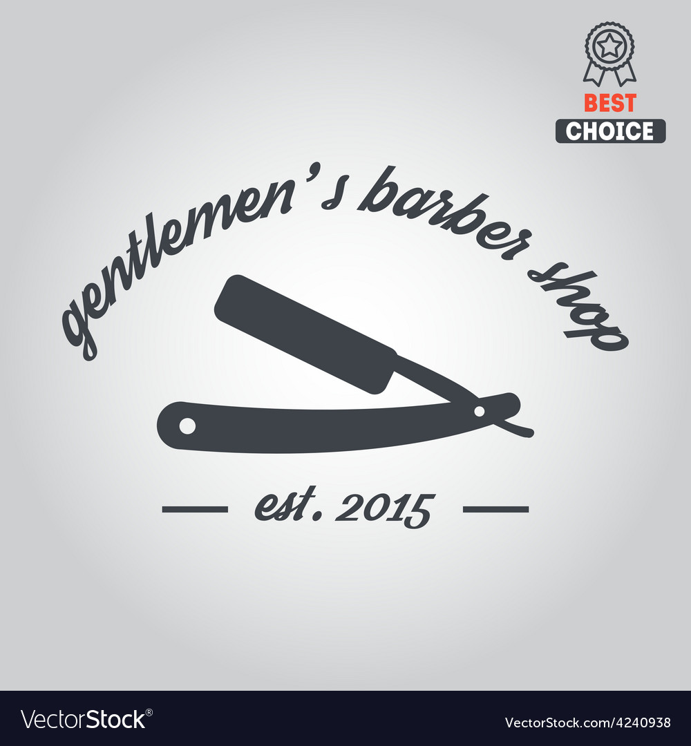 Logo icon or logotype for barbershop vector | Price: 1 Credit (USD $1)