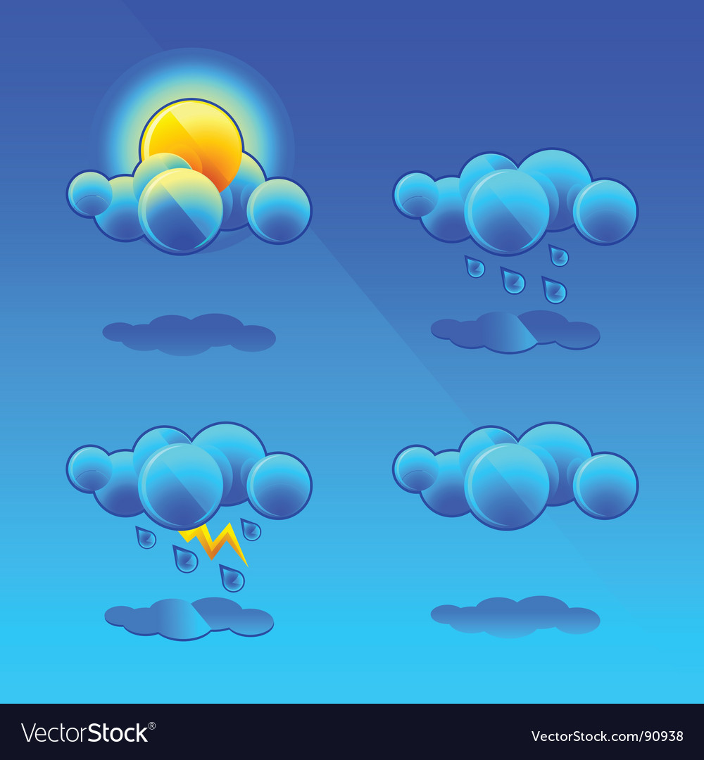 Meteorology symbols vector | Price: 1 Credit (USD $1)