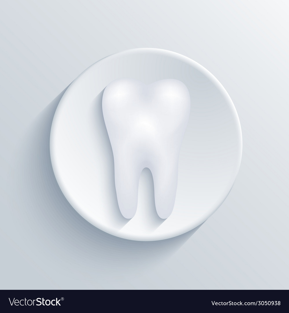 Modern tooth light circle icon vector | Price: 1 Credit (USD $1)
