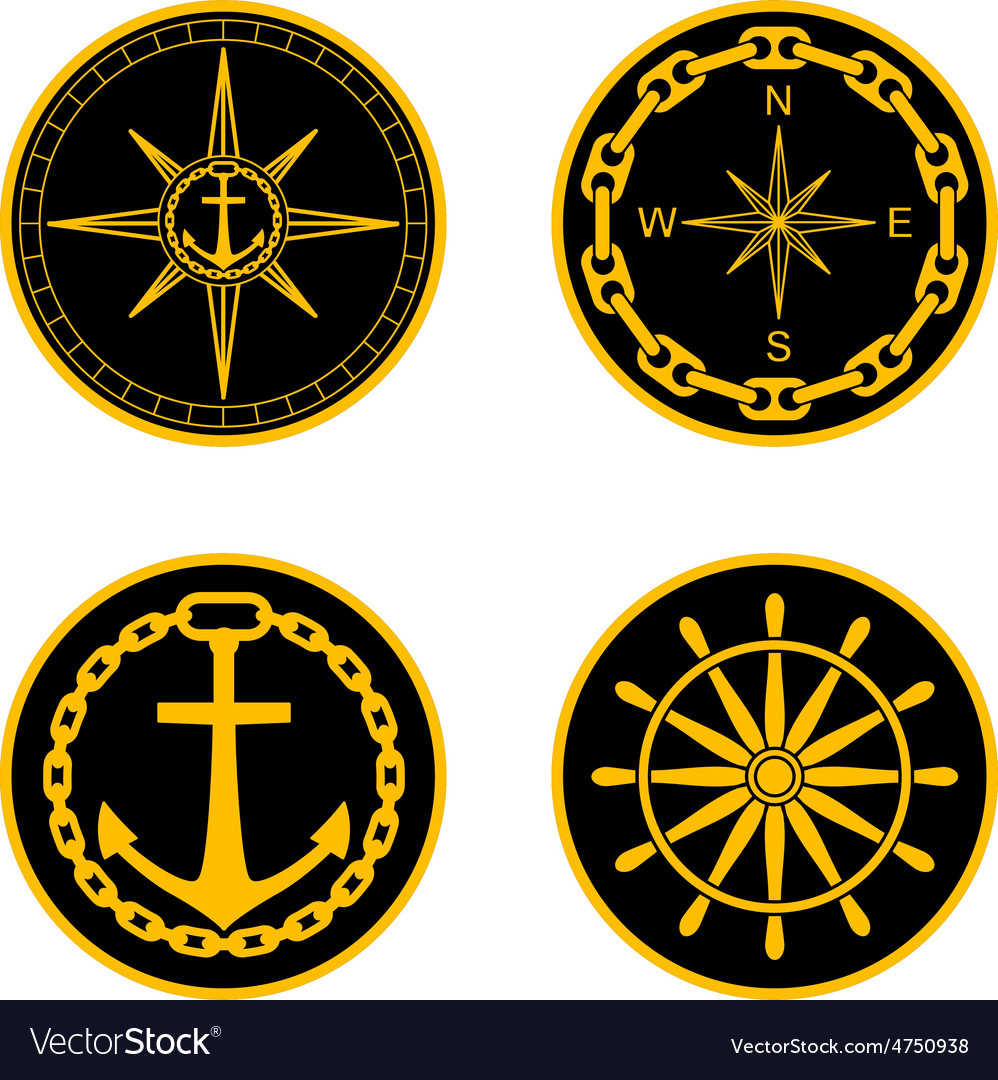 Naval badges vector | Price: 1 Credit (USD $1)