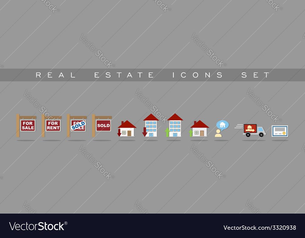 Real estate icons set design vector | Price: 1 Credit (USD $1)
