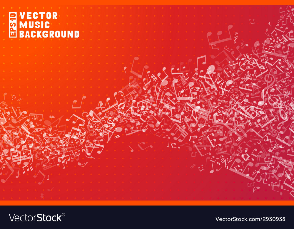 Red music background vector | Price: 1 Credit (USD $1)