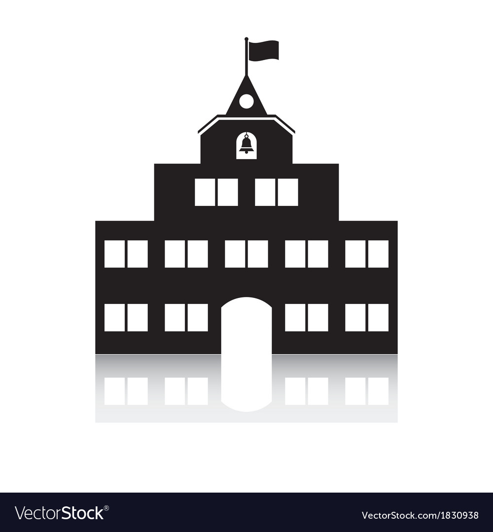 Schoolhouse vector | Price: 1 Credit (USD $1)