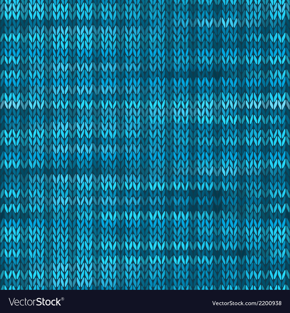 Style seamless knitted melange pattern blue vector   Price: 1 Credit (USD $1)