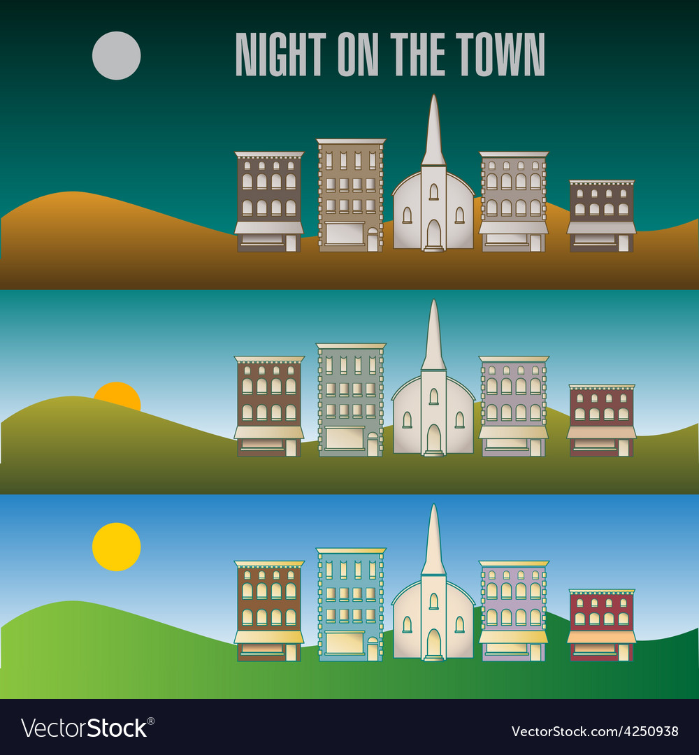 Town infographic 51 vector | Price: 1 Credit (USD $1)