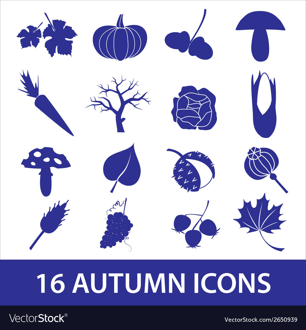 Autumn icons eps10 vector | Price: 1 Credit (USD $1)