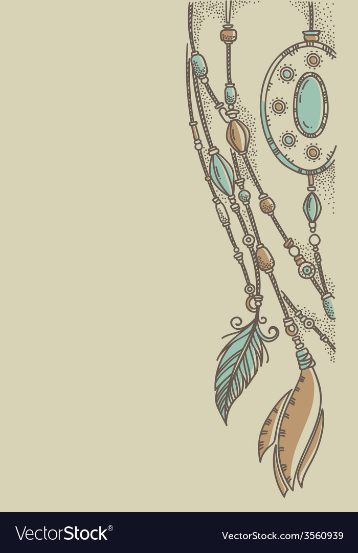 Background in boho chic style vector | Price: 1 Credit (USD $1)