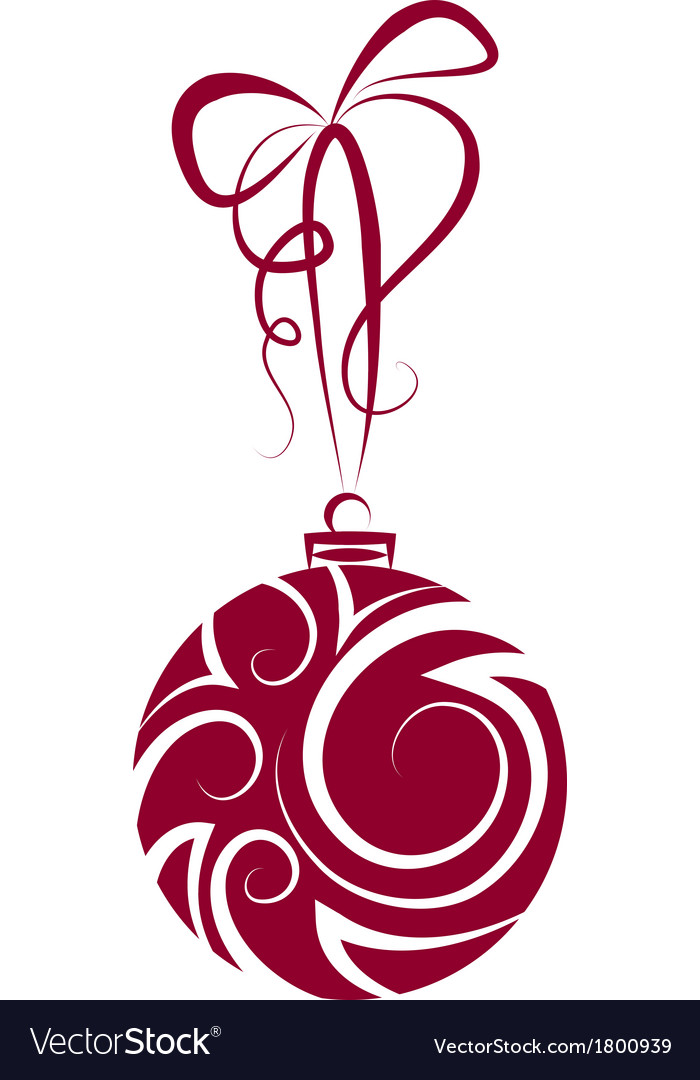 Christmas red ball vector | Price: 1 Credit (USD $1)