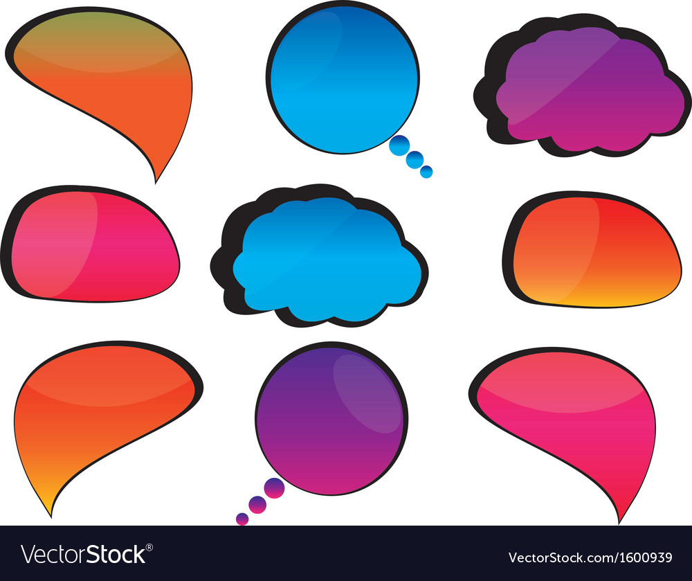 Cool speech bubbles vector | Price: 1 Credit (USD $1)