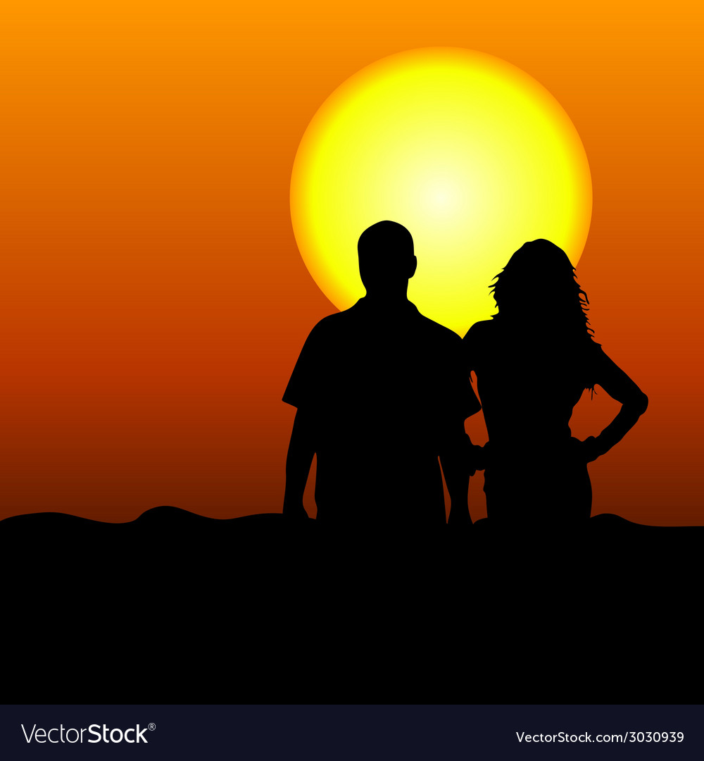 Couple in the nature vector | Price: 1 Credit (USD $1)