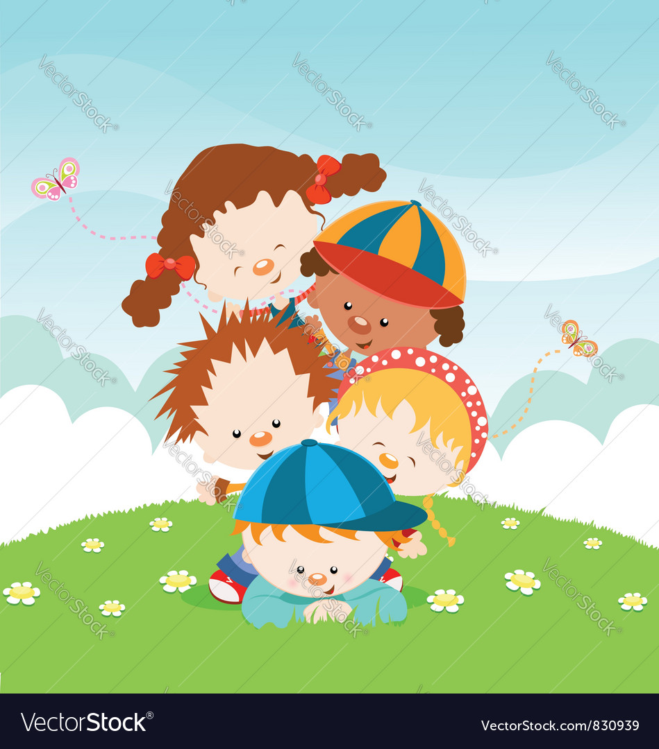 Kids having fun vector | Price: 3 Credit (USD $3)