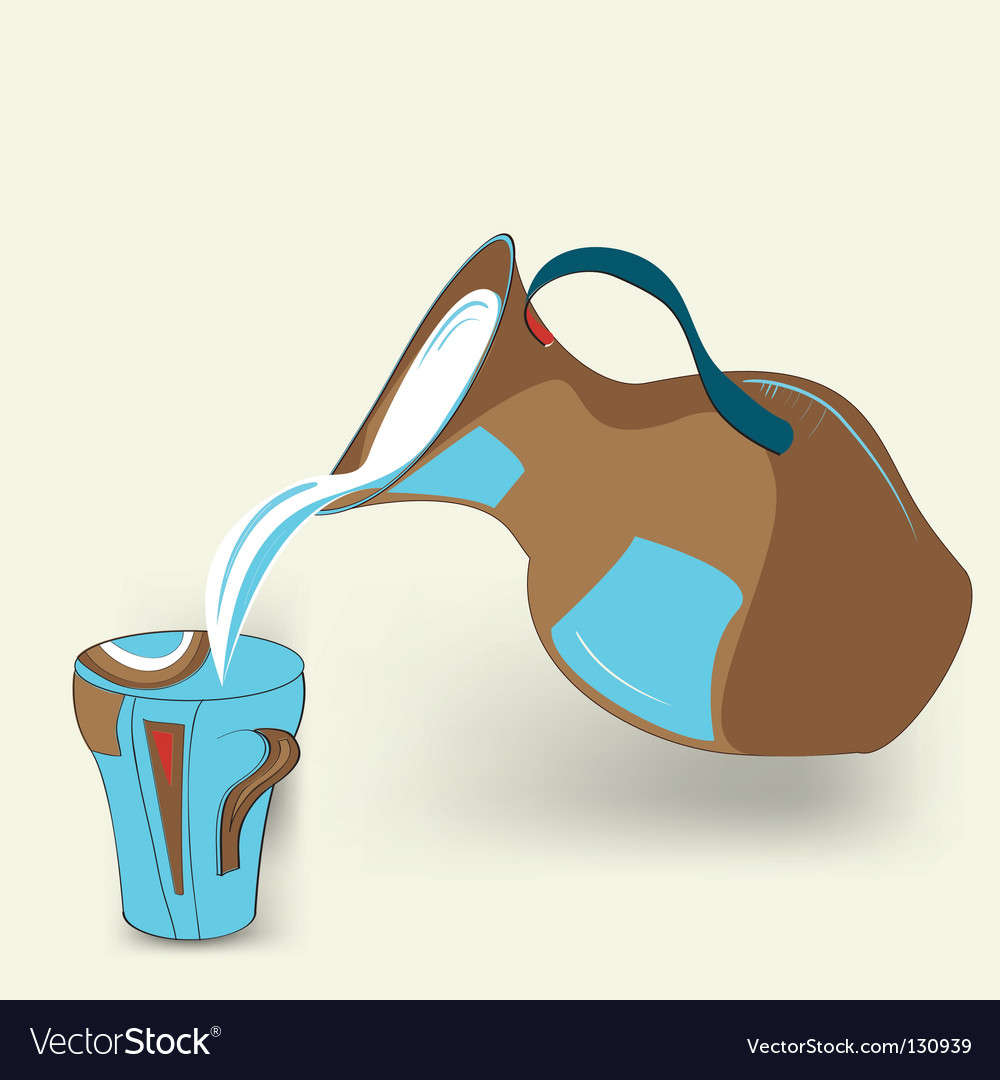 Milk jug vector | Price: 1 Credit (USD $1)