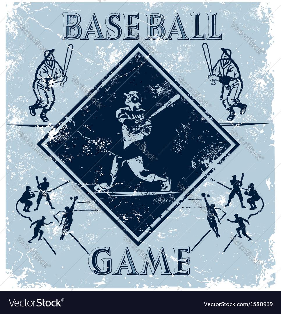 Sport game baseball vector | Price: 1 Credit (USD $1)