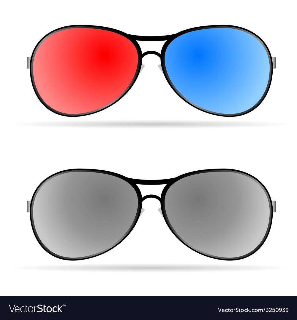 Sunglasses color art vector | Price: 1 Credit (USD $1)