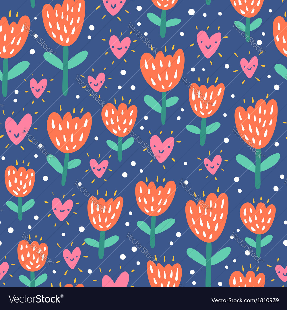 Valentine flowers and hearts vector | Price: 1 Credit (USD $1)