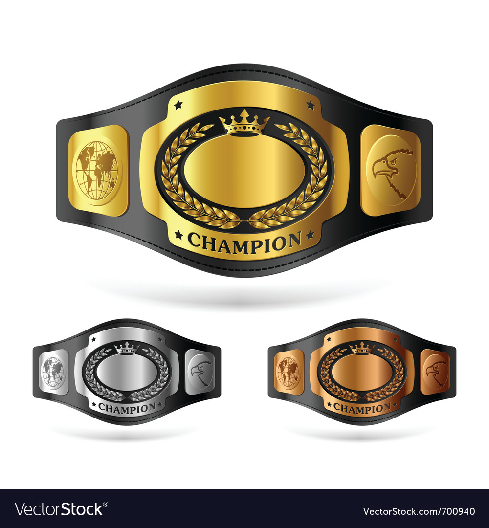 Champion belt vector | Price: 1 Credit (USD $1)