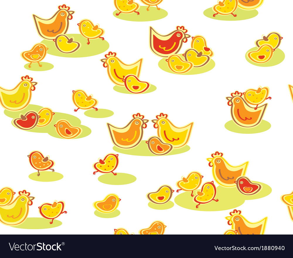 Chickens pattern vector | Price: 1 Credit (USD $1)