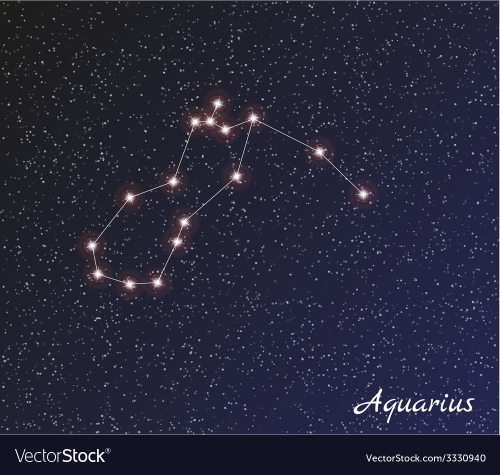 Constellation aquarius vector | Price: 1 Credit (USD $1)