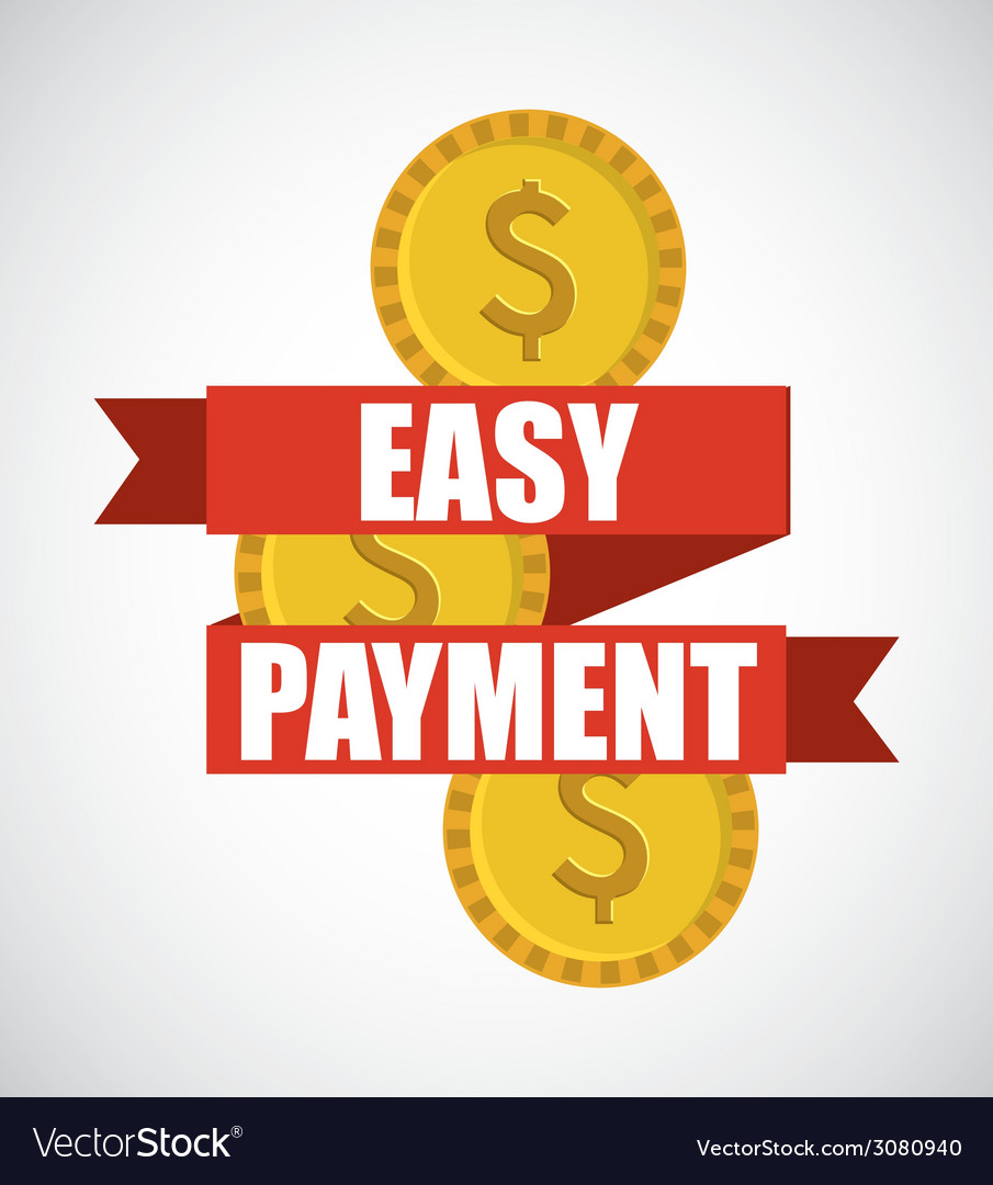 Easy payment design vector | Price: 1 Credit (USD $1)