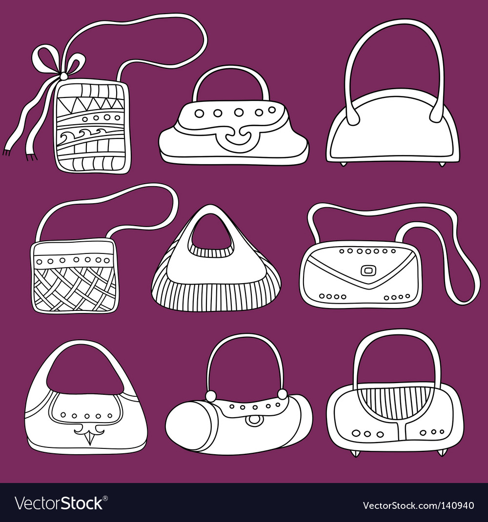 Fashion bags doodles vector | Price: 1 Credit (USD $1)