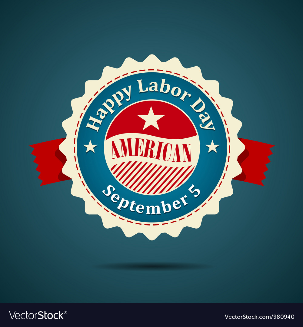 Ribbon labor day american design vector | Price: 1 Credit (USD $1)
