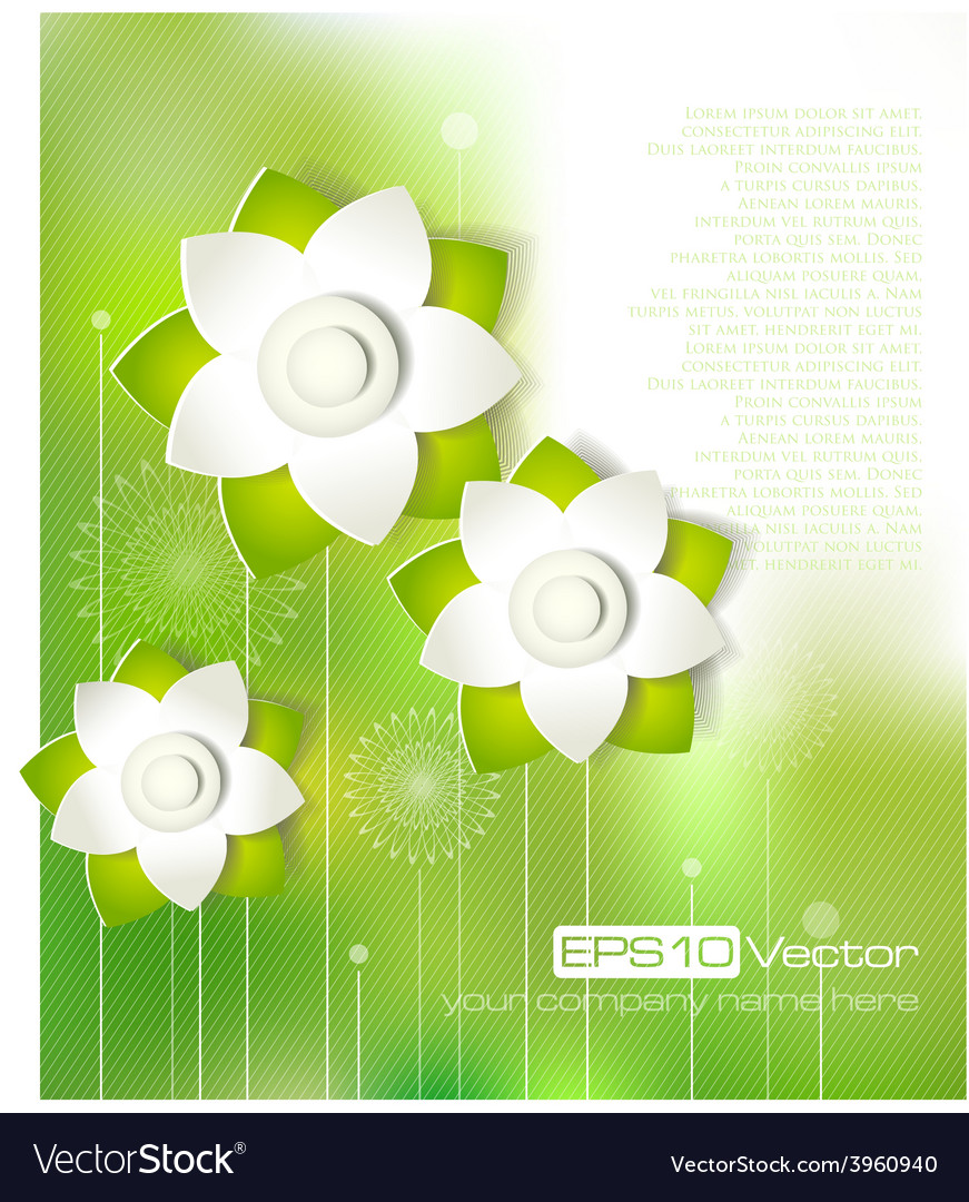 Spring cutout flower design vector | Price: 1 Credit (USD $1)