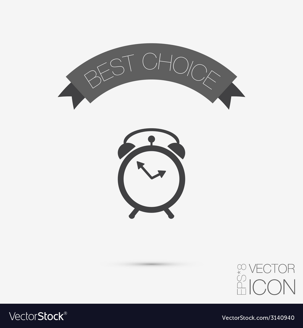 Symbol morning alarm icon the clock shows the vector   Price: 1 Credit (USD $1)