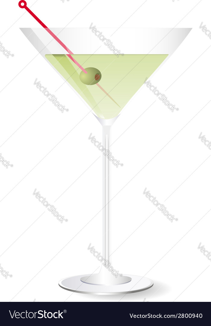 Vodka with martini vector | Price: 1 Credit (USD $1)