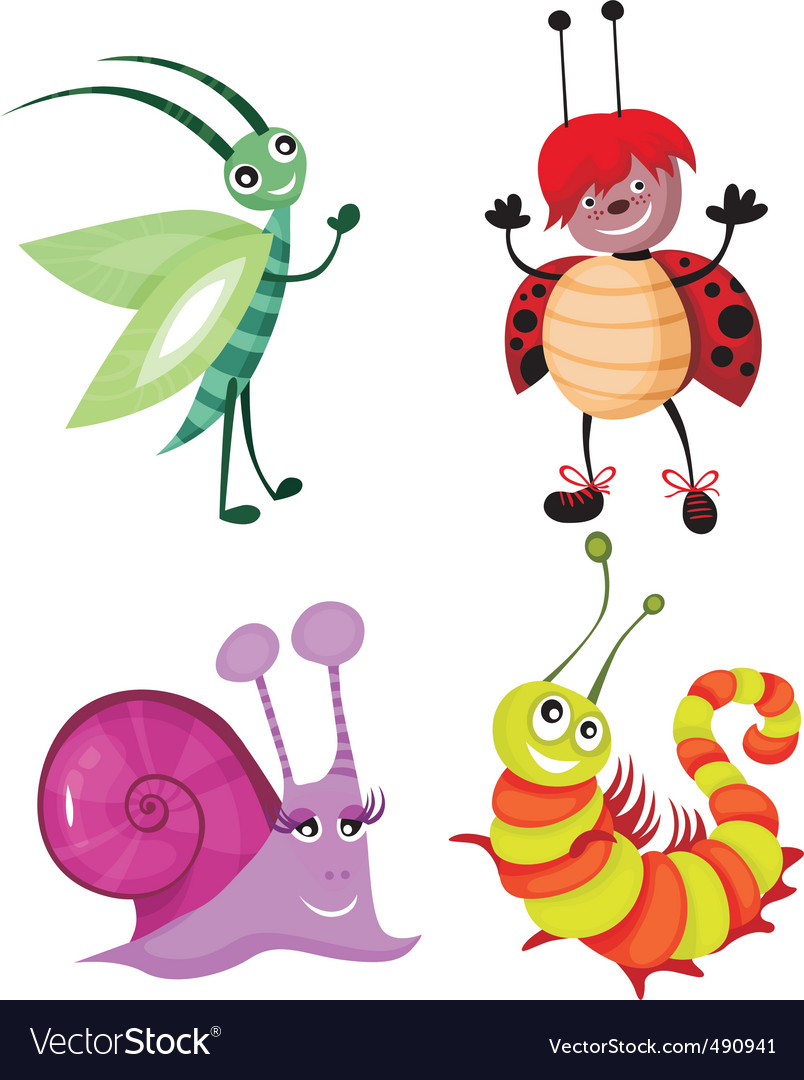 Cartoon insects vector | Price: 3 Credit (USD $3)