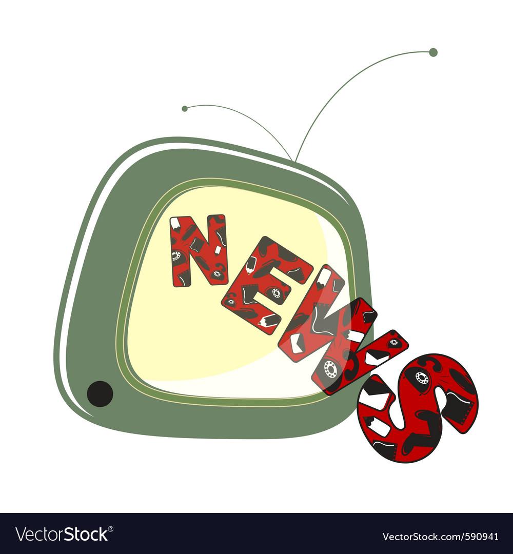 News on tv vector | Price: 1 Credit (USD $1)