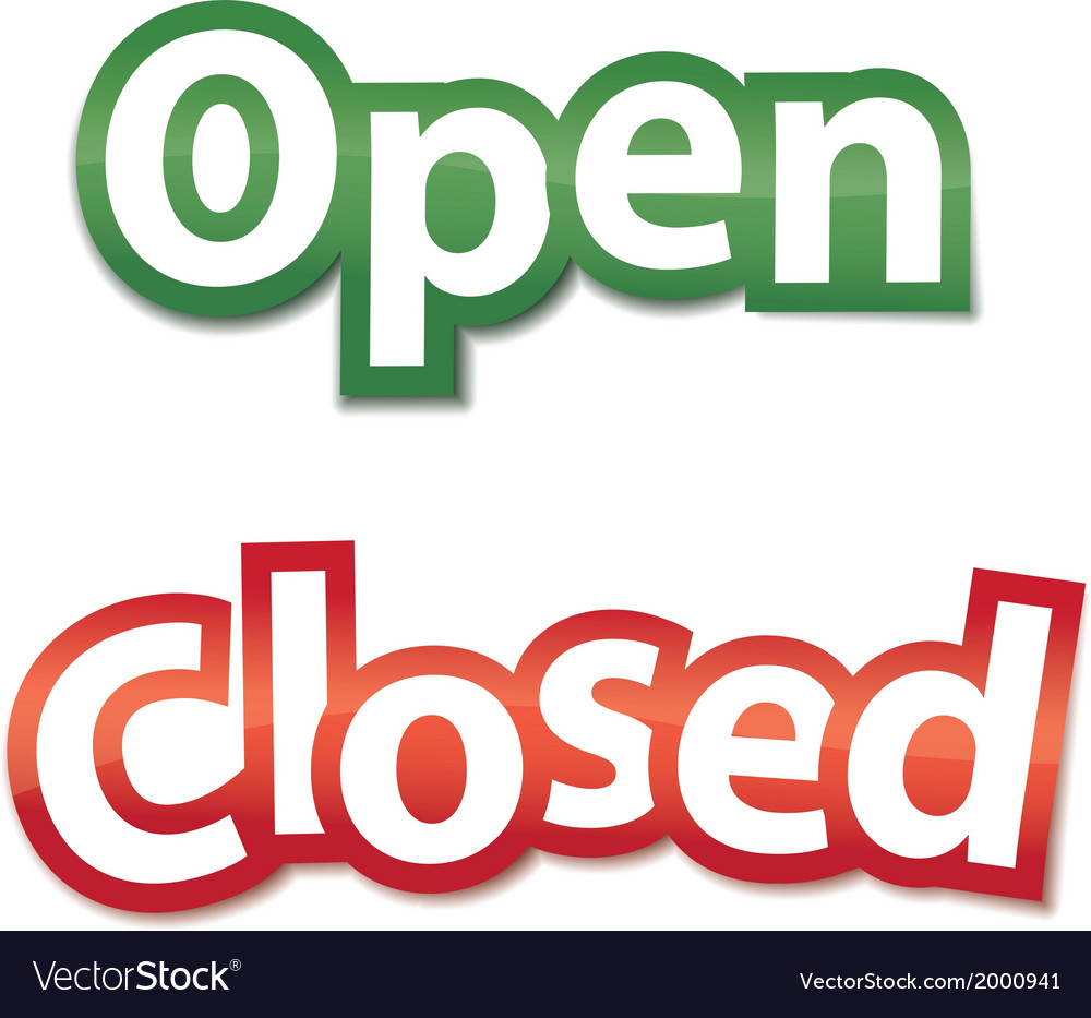 Open and closed signs vector | Price: 1 Credit (USD $1)