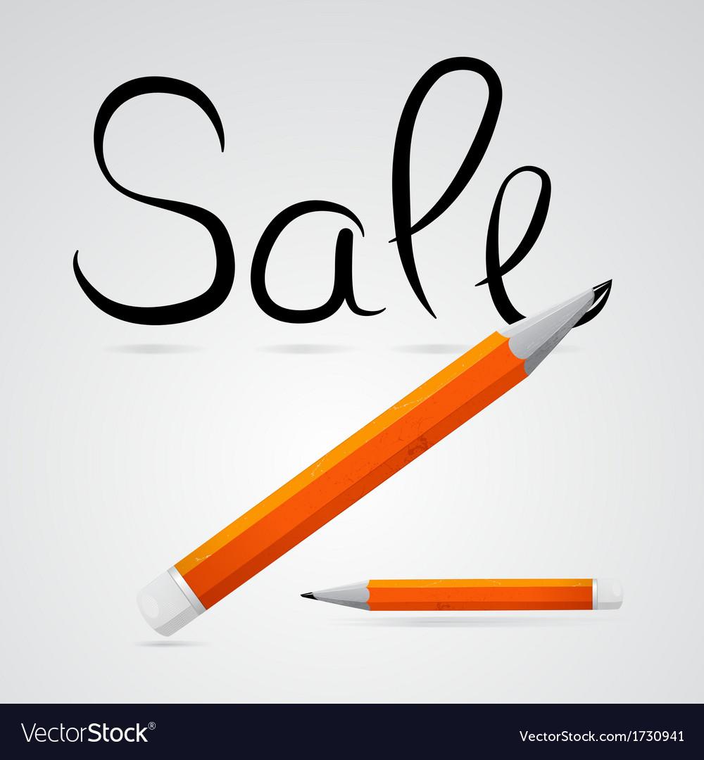 Pencil sale vector | Price: 1 Credit (USD $1)