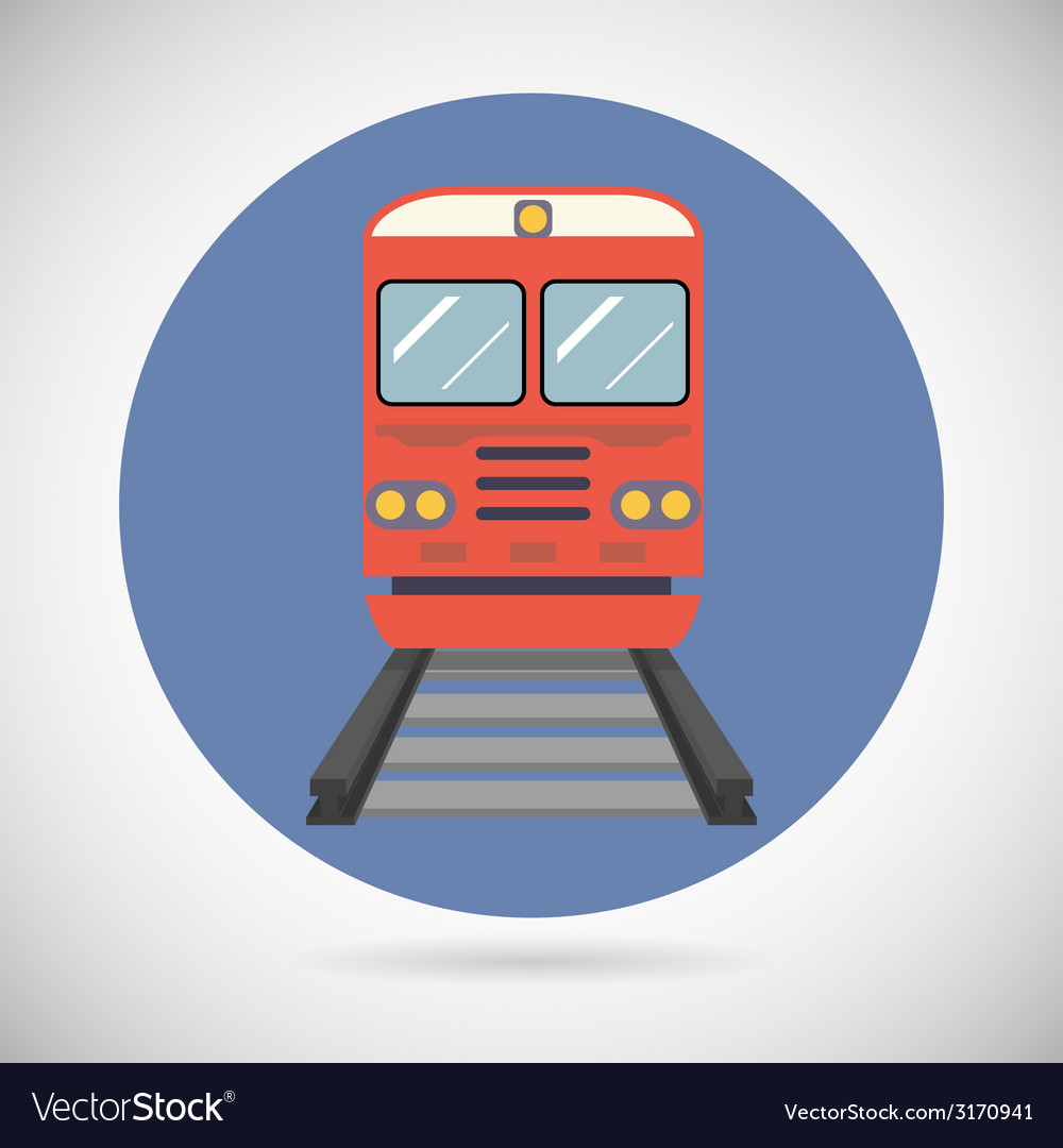 Railway train transport carriage symbol railroad vector | Price: 1 Credit (USD $1)