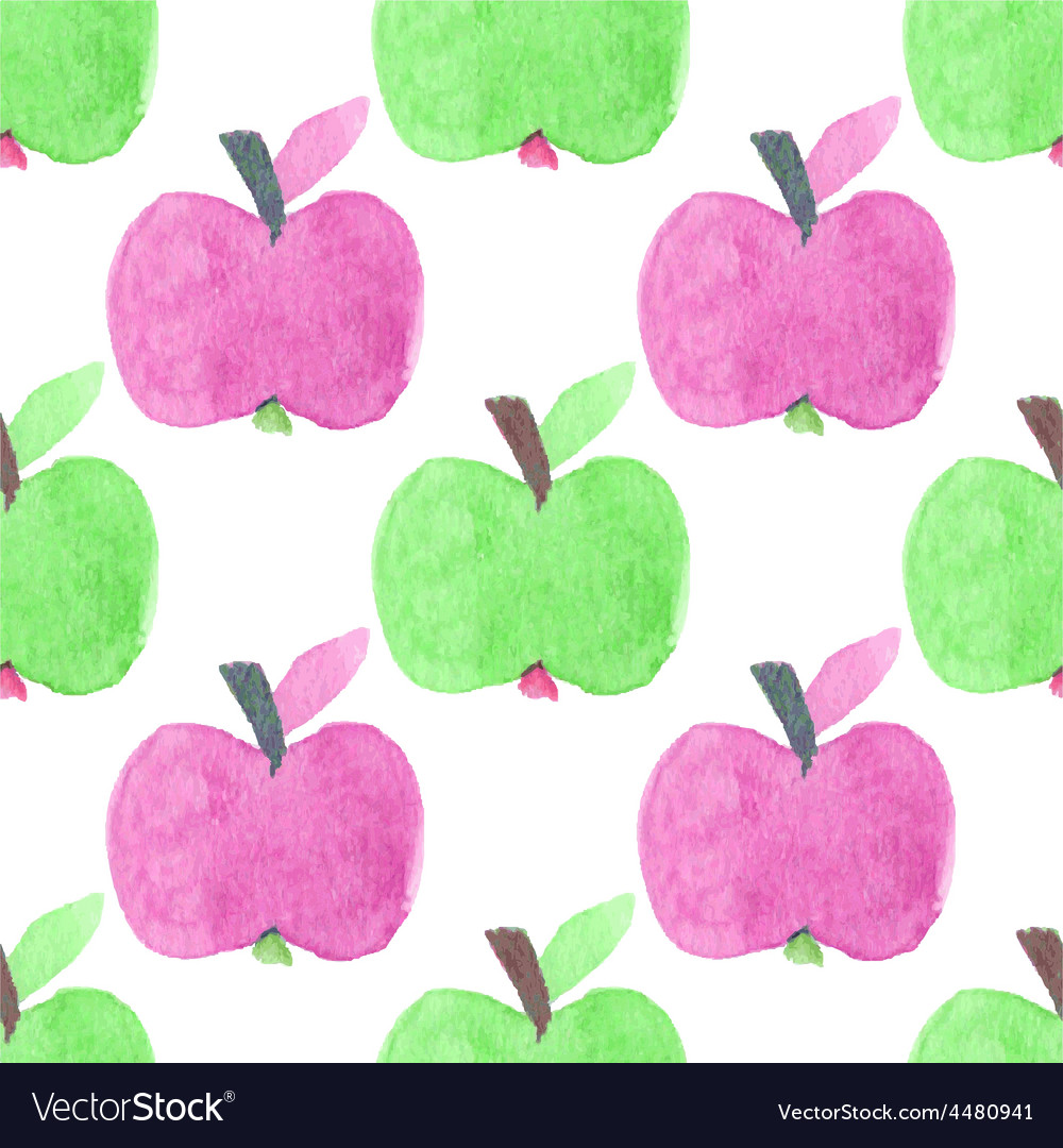 Seamless watercolor pattern with funny green and vector | Price: 1 Credit (USD $1)