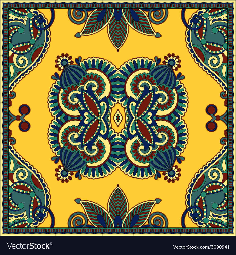 Traditional ornamental floral paisley bandanna you vector | Price: 1 Credit (USD $1)
