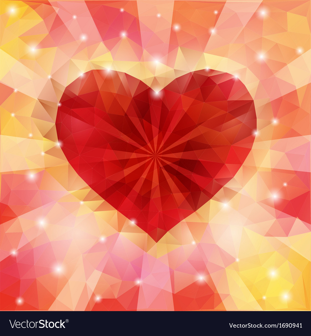 Triangular heart vector | Price: 1 Credit (USD $1)