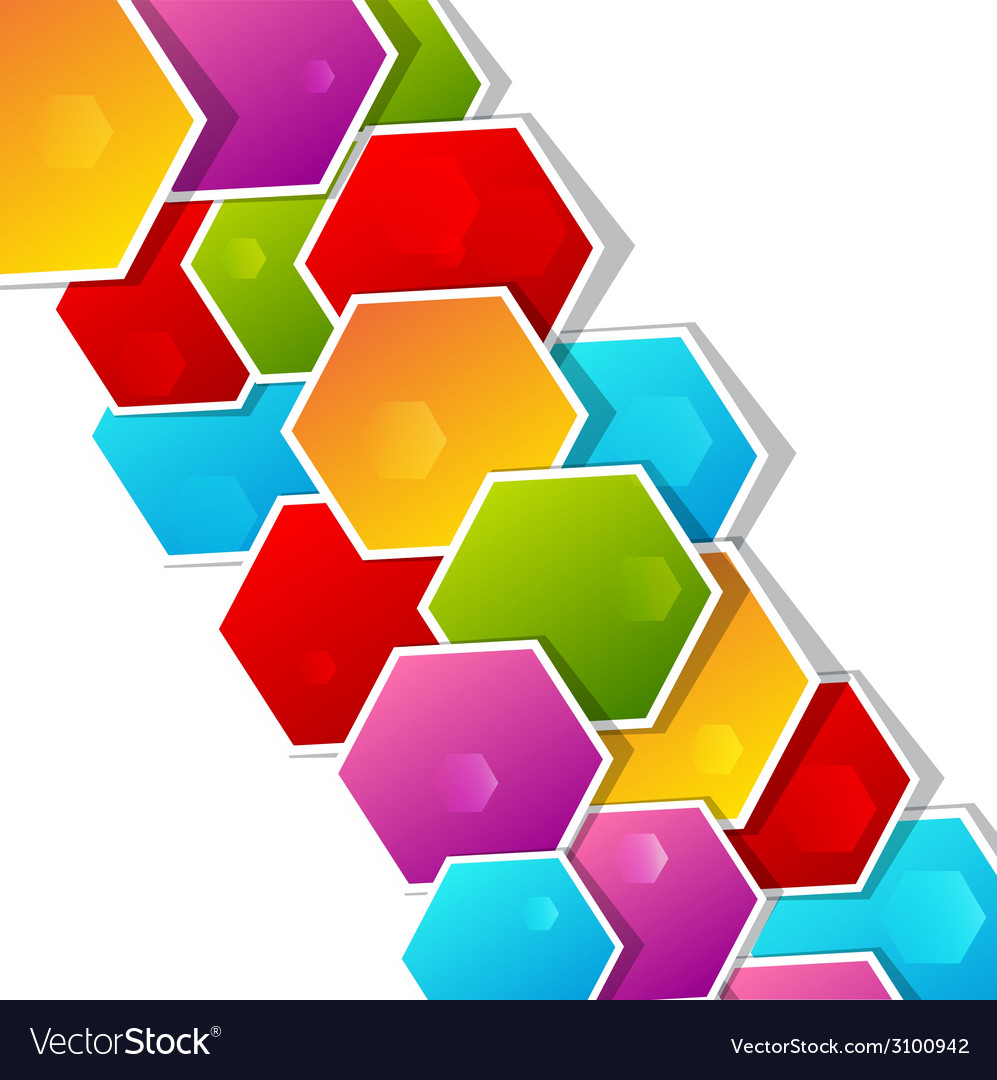 Abstract background with paper colored polygonal vector | Price: 1 Credit (USD $1)