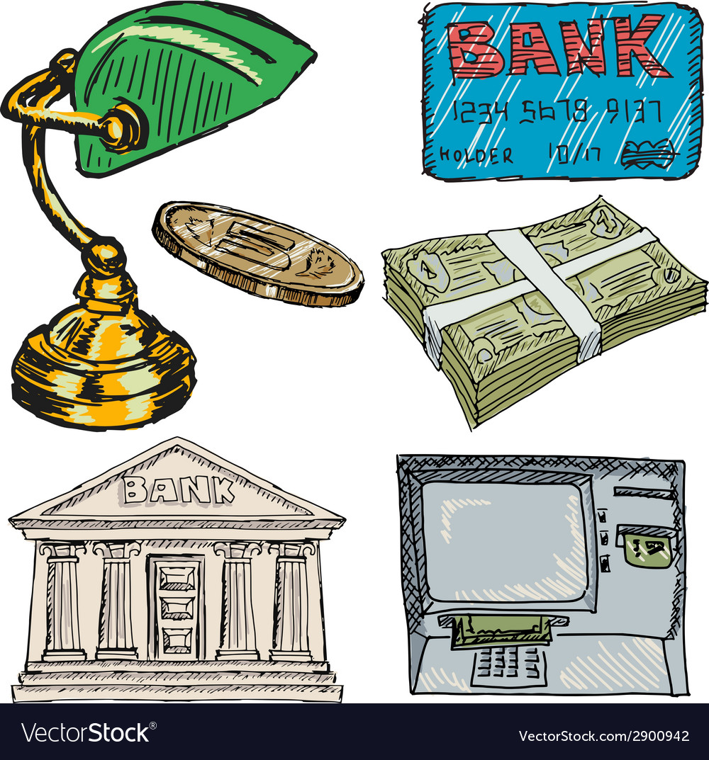 Banking objects vector | Price: 1 Credit (USD $1)