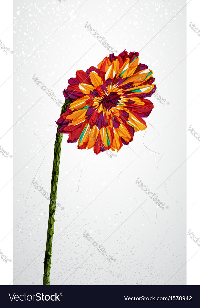 Geometric colorful flower transparency shape vector | Price: 1 Credit (USD $1)