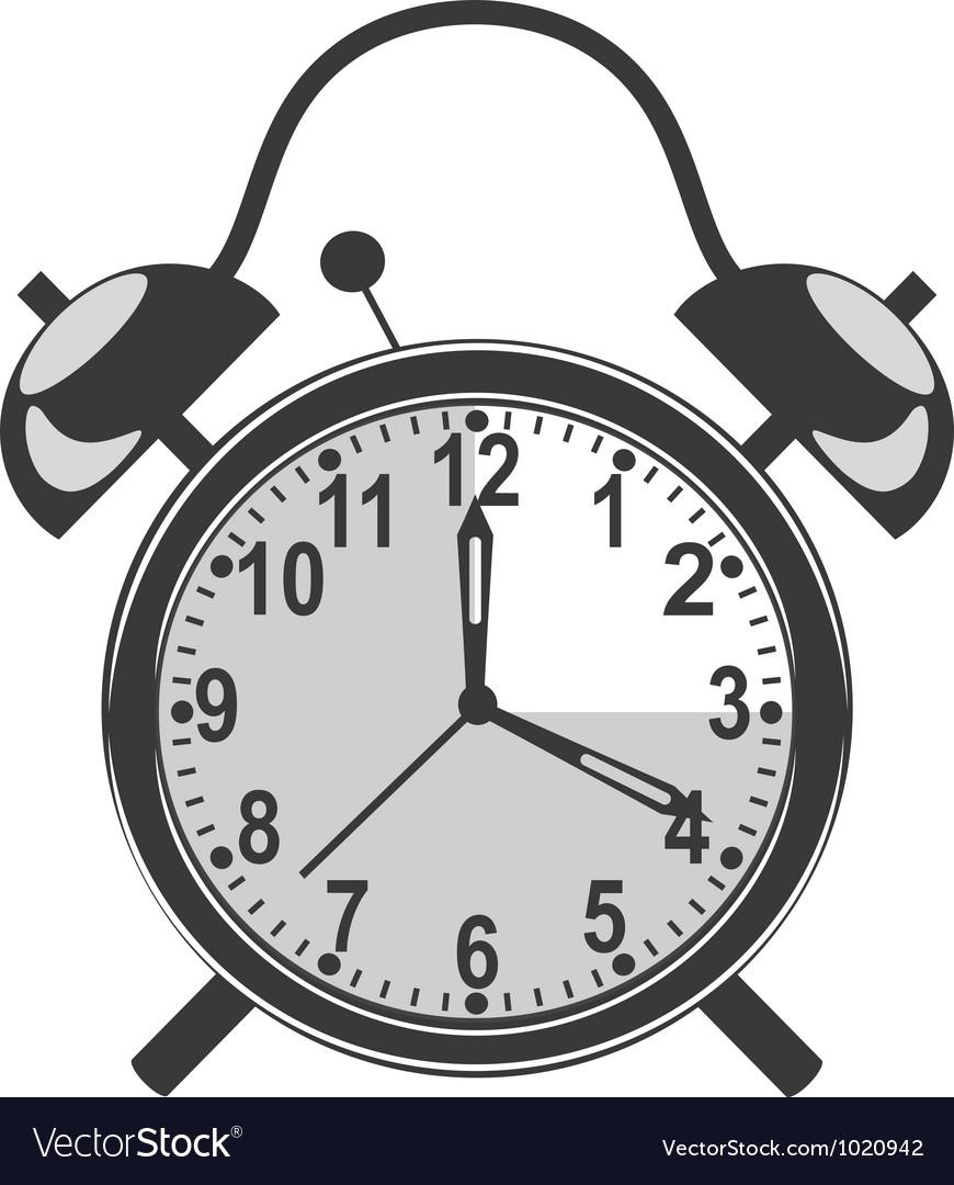 Retro black alarm clock vector   Price: 1 Credit (USD $1)