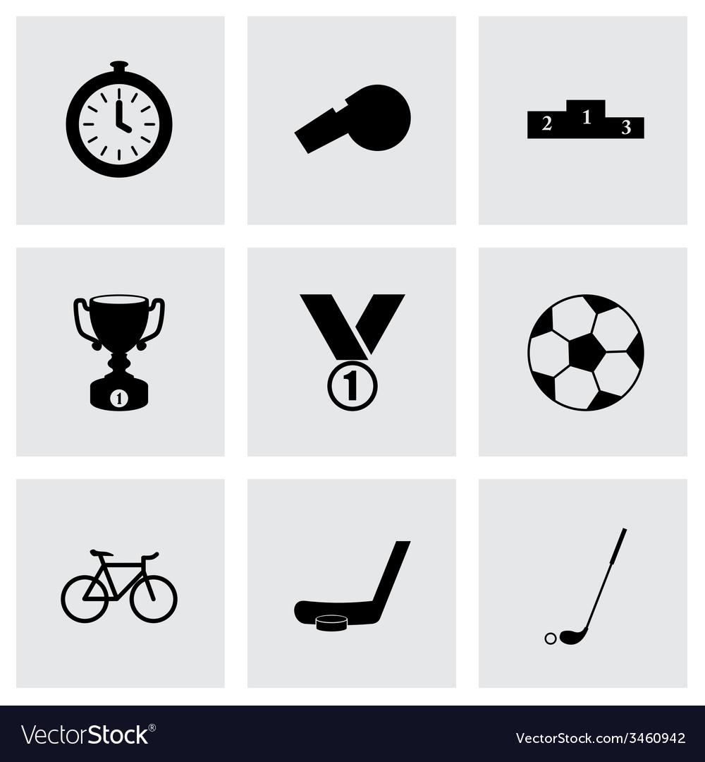 Sport icon set vector   Price: 1 Credit (USD $1)